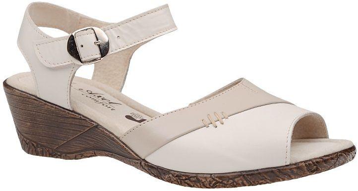 Sandały AXEL Comfort 2311 Krem-102 Polo-F1 Kremowe na haluksy Tęgość H