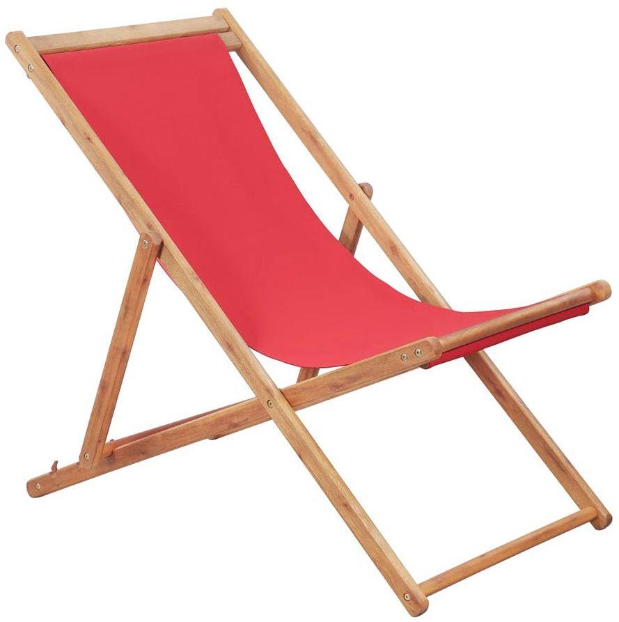 Czerwony leżak plażowy - Inglis 2X