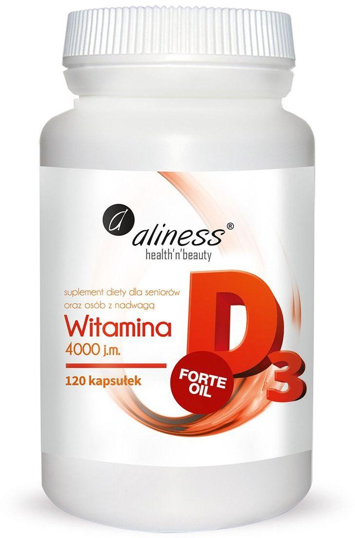Witamina D3 FORTE 4000 Naturalna (120 kaps) Aliness