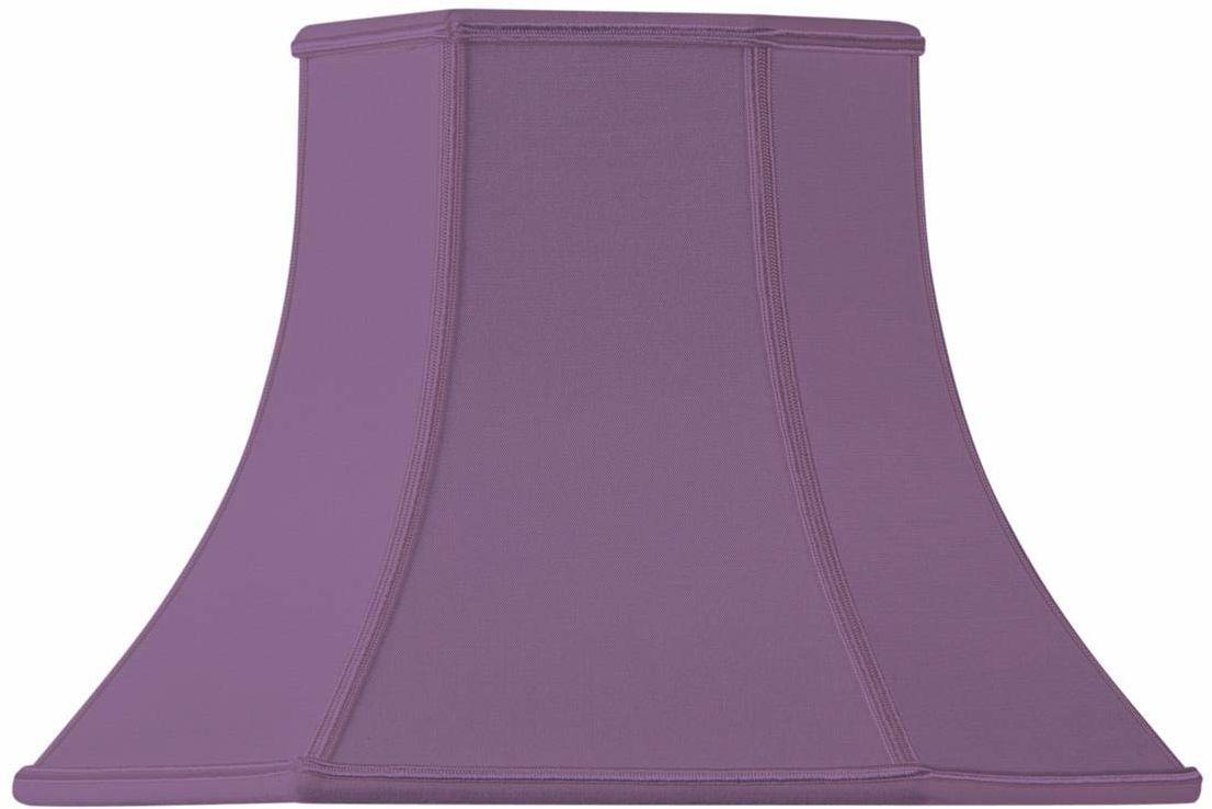 Klosz lampy w kształcie Pagody, 30 x 15 x 22 cm, fioletowy