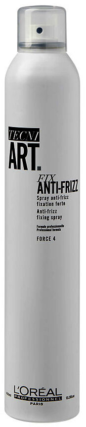 Loreal tecni.art FIX ANTI-FRIZZ 4 spray mocno utrwalający do włosów puszących się 400ml