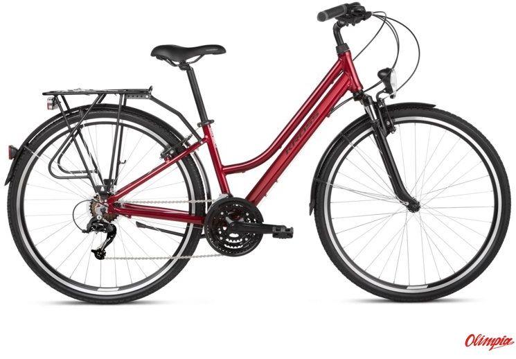 Rower Kross Trans 1.0 SR rubinowy/czarny połysk 2021