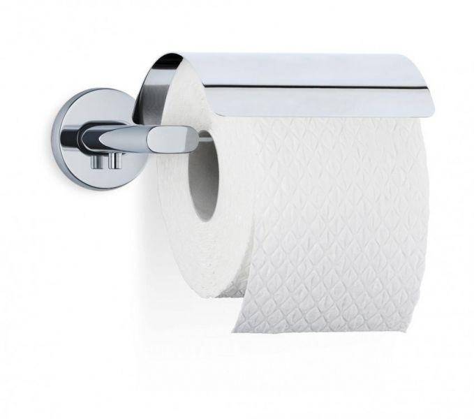 Blomus AREO Uchwyt - Wieszak z Klapką na Papier Toaletowy - Polerowany