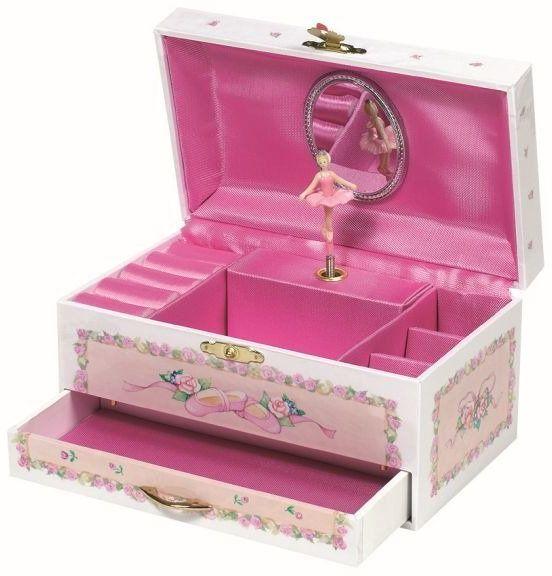 Baletnica, pozytywka dla dzieci z szufladką i lusterkiem