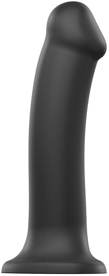 strap-on-me Silicone Bendable Dildo Black XL