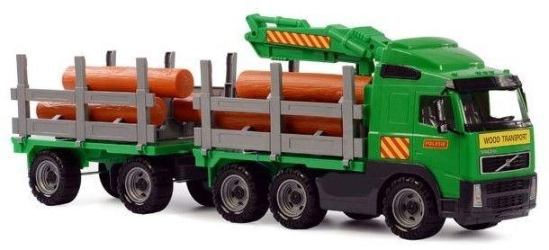 Wader QT Volvo Ogromna Ciężarówka z Przyczepą Do Przewozu Drewna 75 cm
