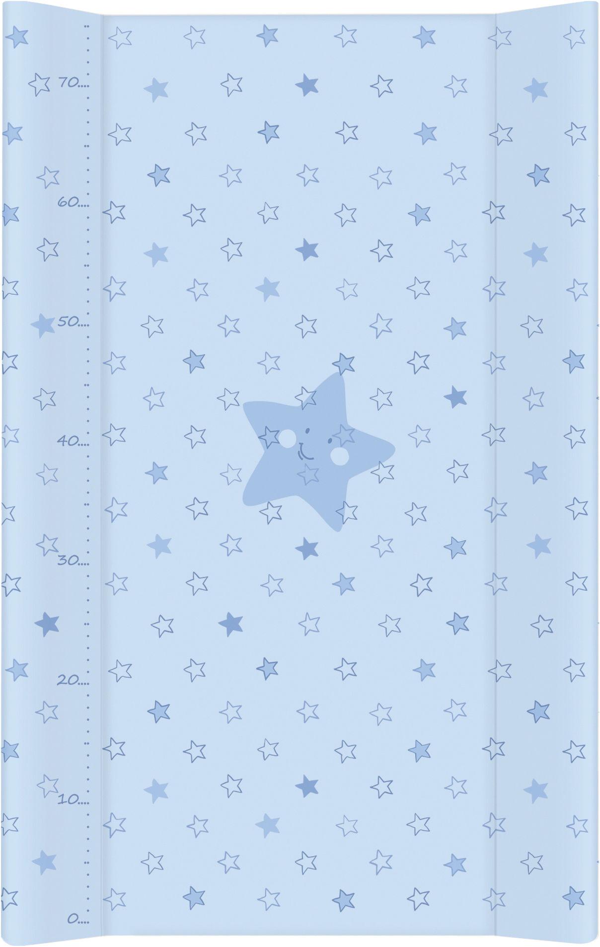 MAMO-TATO Przewijak na łóżeczko usztywniony 50x70 Gwiazdki Niebieskie