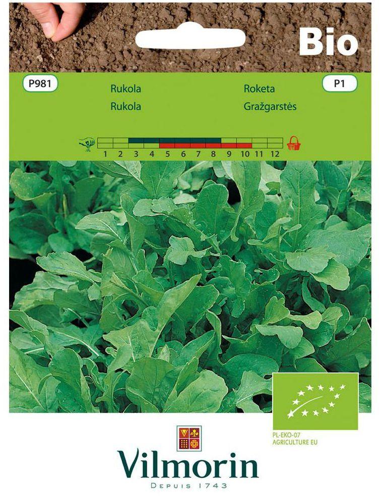 Rukola (Rokietta siewna) BIO nasiona ekologiczne 2 g VILMORIN
