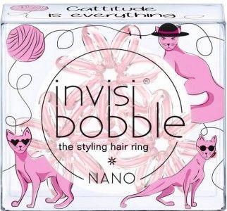 INVISIBOBBLE NANO Cattitude is everything - różowa gumka do włosów 3 pack