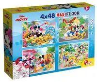 Puzzle SuperMaxi 4x48 Myszka Miki i Przyjaciele - Lisciani