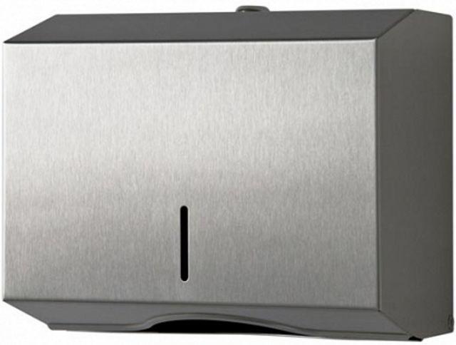 Podajnik ręczników papierowych ZZ STEEL Pojemnik metalowy ze stali nierdzewnej / szlachetnej/ inoxu na ręczniki papierowe składane