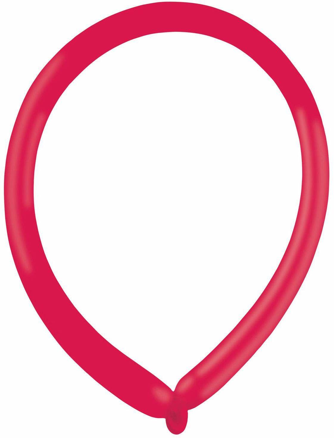 amscan 9905515 100 lateksowe balony do modelowania Fashion E160, czerwony jagodowy