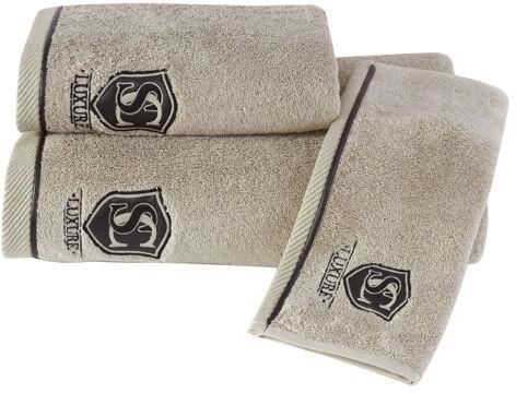 Mały ręcznik LUXURY 30x50cm Beżowy
