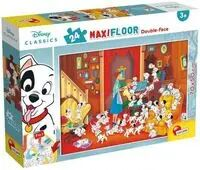 Puzzle Maxi 24 dwustronne 101 Dalmatyńczyków - Lisciani