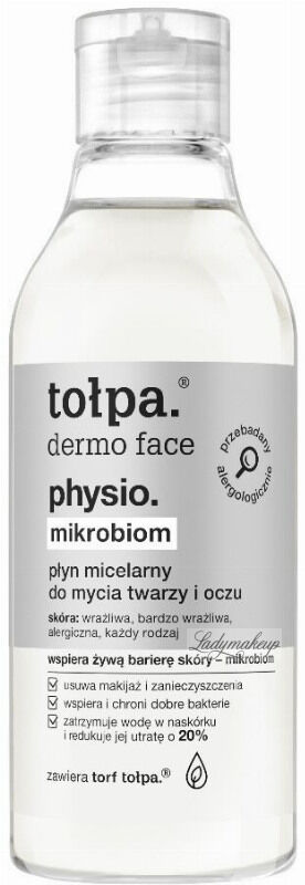 Tołpa - Dermo Face Physio Mikrobiom - Płyn micelarny do mycia twarzy i oczu - 200 ml