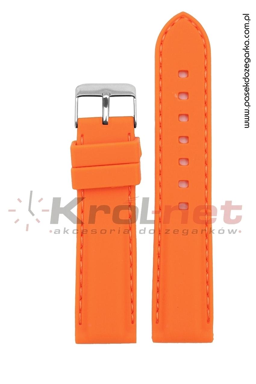 Pasek RP051P/24 - pomarańczowy, silikonowy