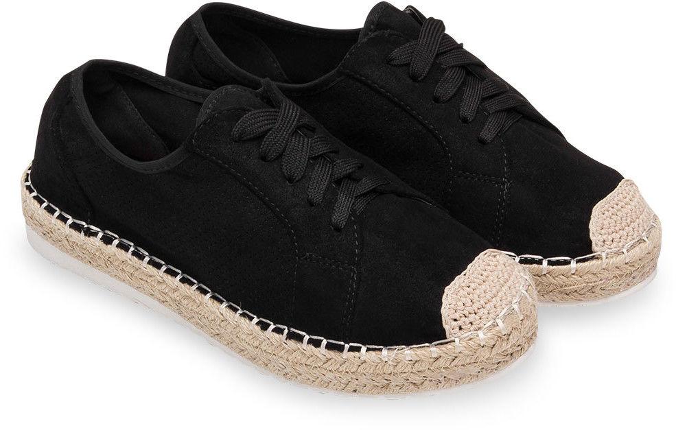 Półbuty damskie Ideal Shoes U-6270 Czarne
