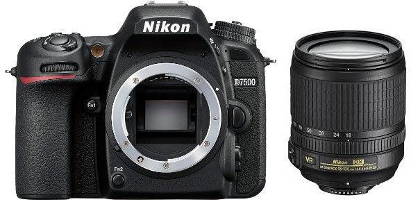 Nikon D7500+ AF-S 18-105mm VR Czarny