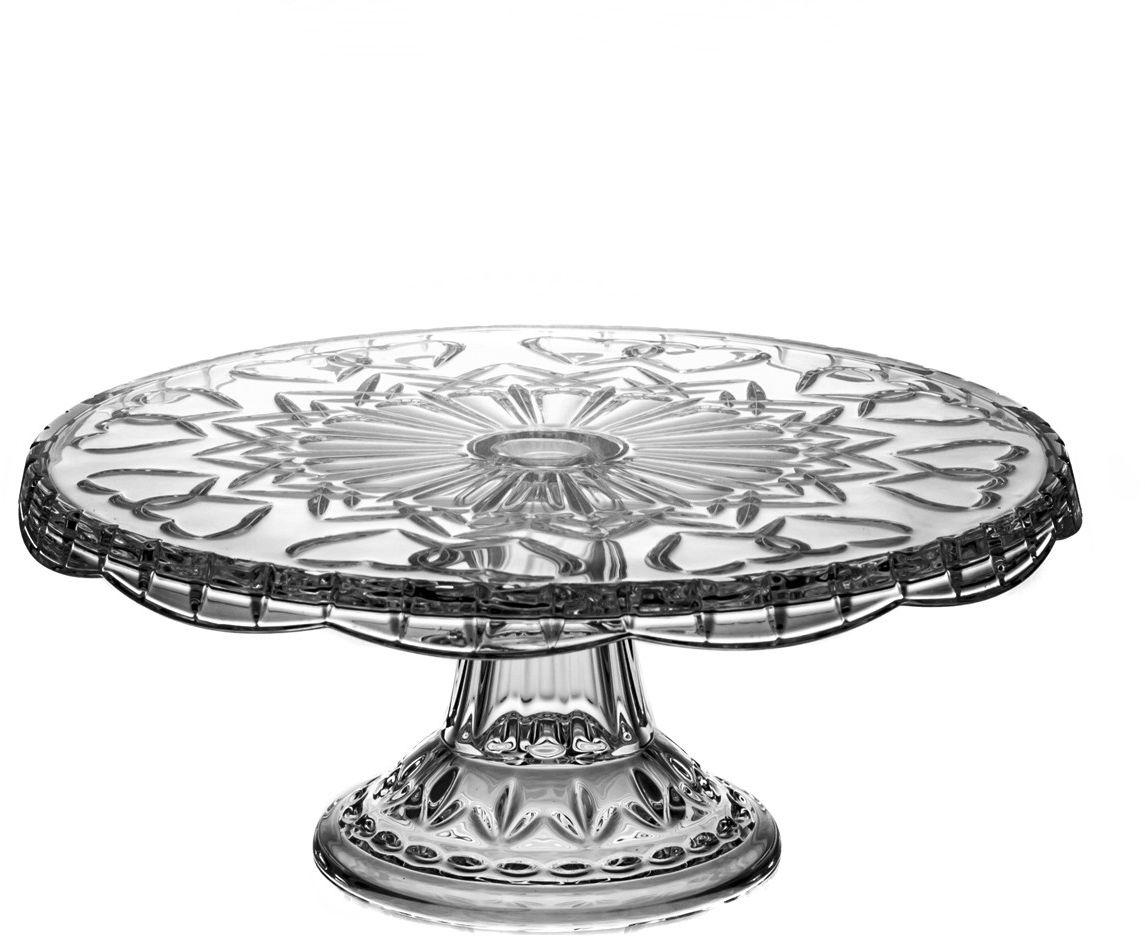 Talerz kryształowy na nodze (05967)