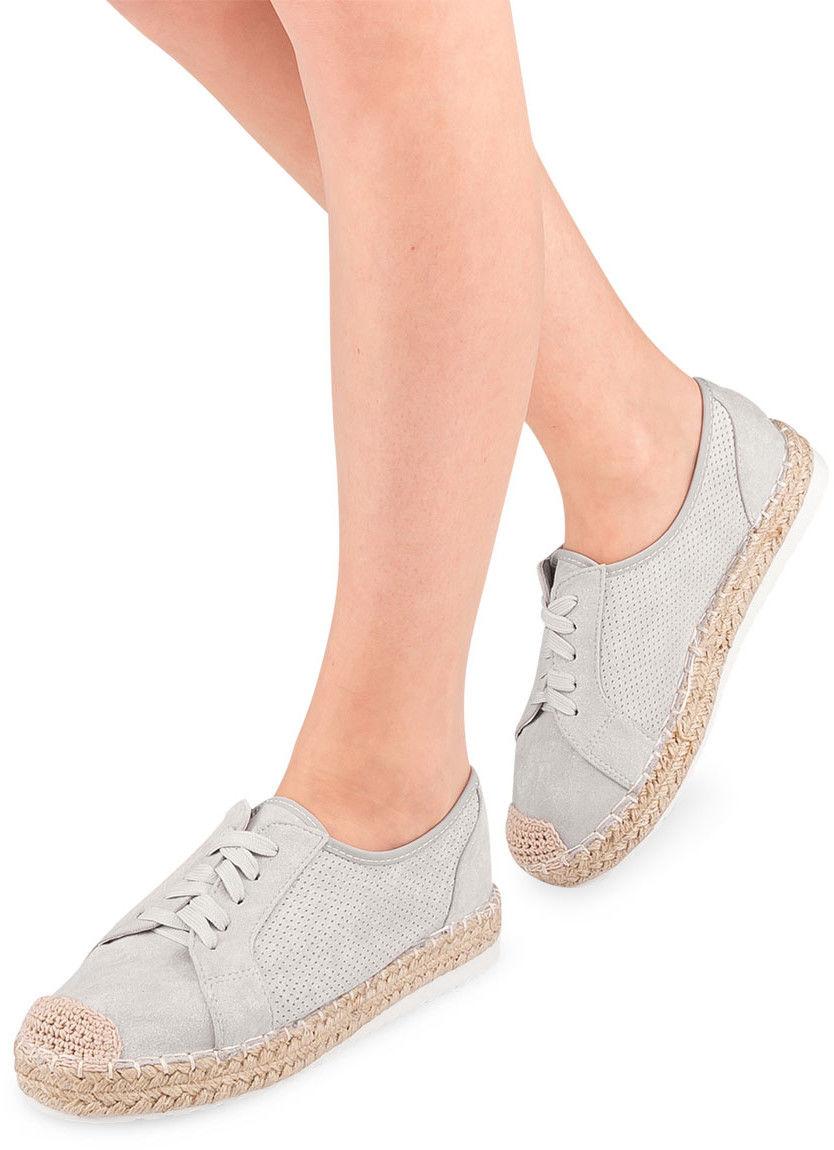 Półbuty damskie Ideal Shoes U-6270 Szare
