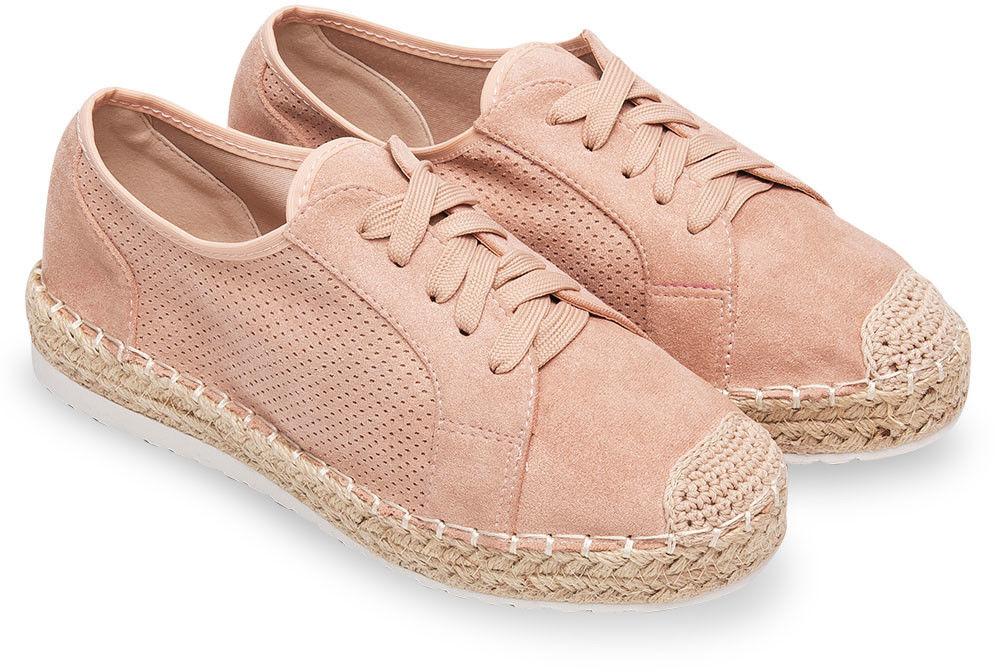 Półbuty damskie Ideal Shoes U-6270 Różowe