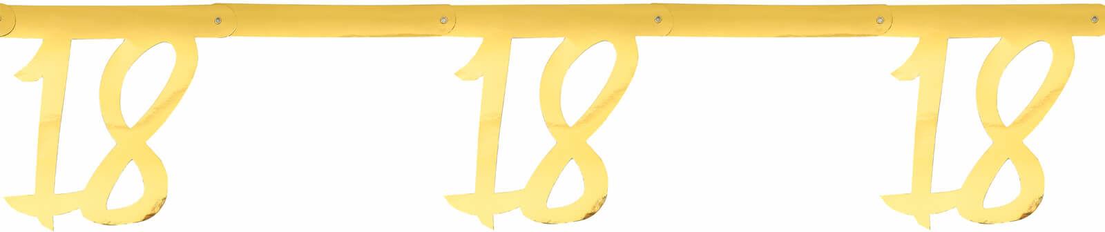 Girlanda na osiemnaste urodziny złota - 250 cm - 1 szt.