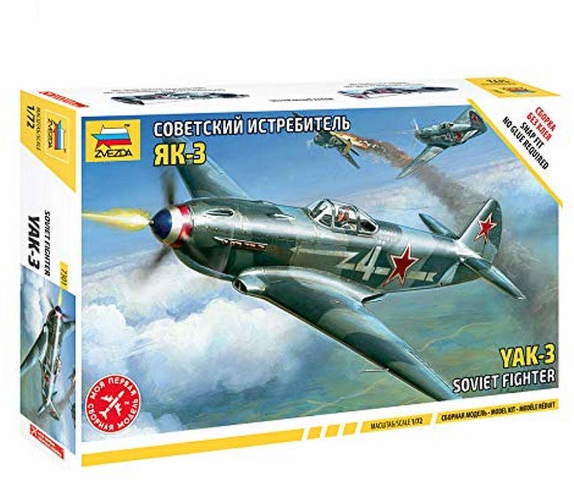 Zvezda 500787301-1:72 WWII Yak-3 Soviet samolot myśliwski