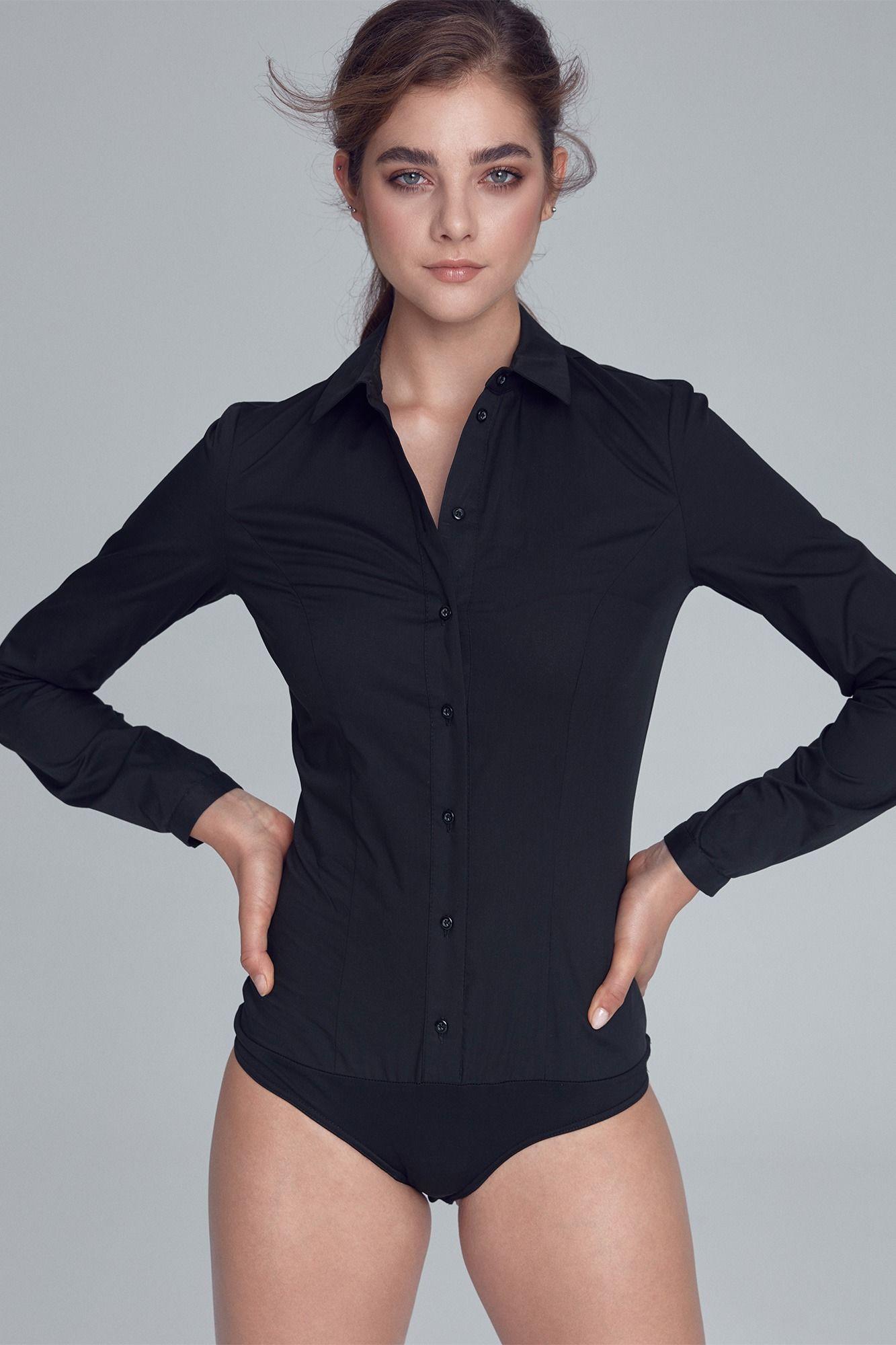 Czarna Klasyczna Koszula -Body