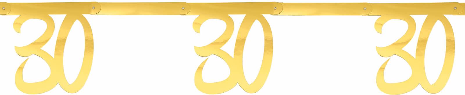 Girlanda na trzydzieste urodziny złota - 250 cm - 1 szt.