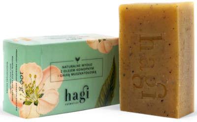 Naturalne mydło z olejem konopnym i gałką muszkatołową 100g HAGI