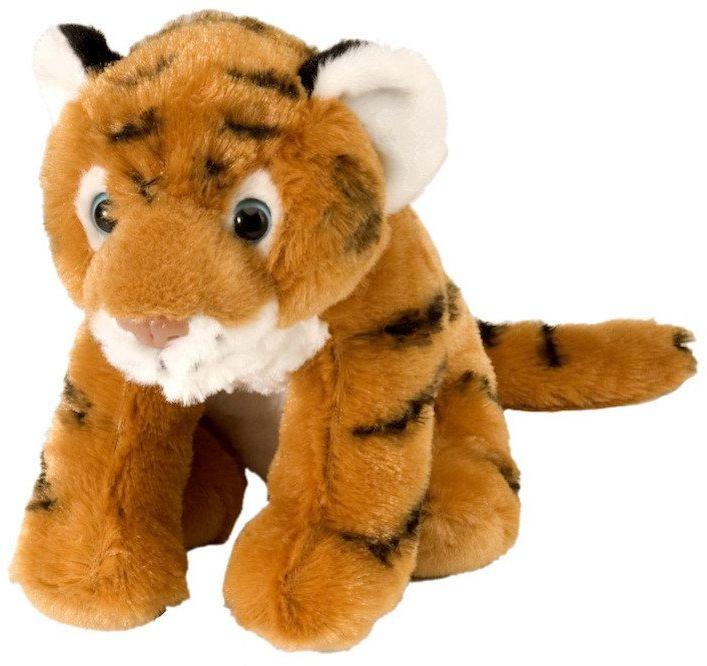 Wild Republic 10850 pluszowy tygrys Baby, Cuddlekiny, pluszowe zwierzątko, 20 cm, brązowy