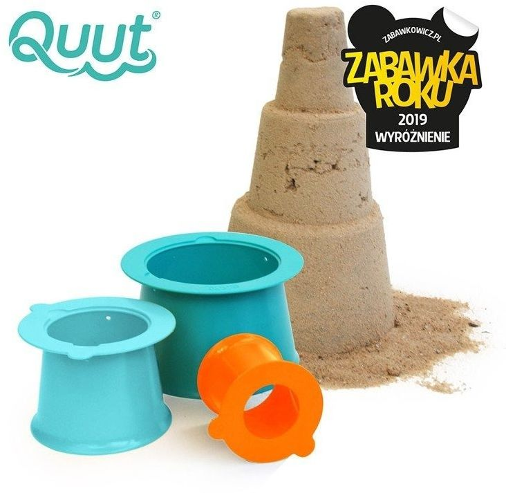 QUUT Zestaw 3 foremek do piasku Wieża Alto Lagoon Green + Vintage Blue + Mighty Orange, 18 m+