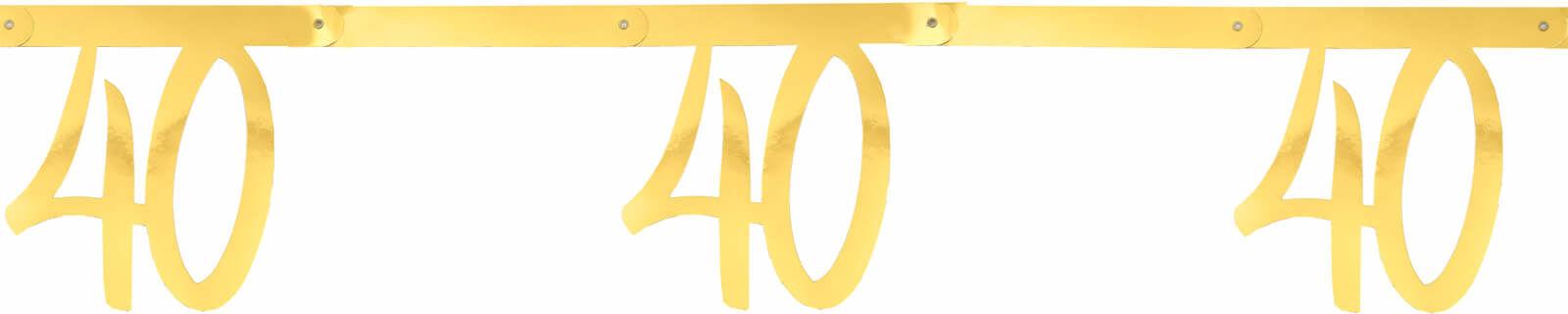 Girlanda na czterdzieste urodziny złota - 250 cm - 1 szt.