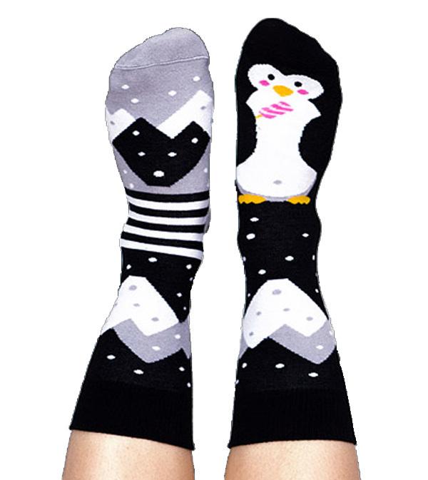 Skarpety kolorowe pingwin - Penguin on Ice