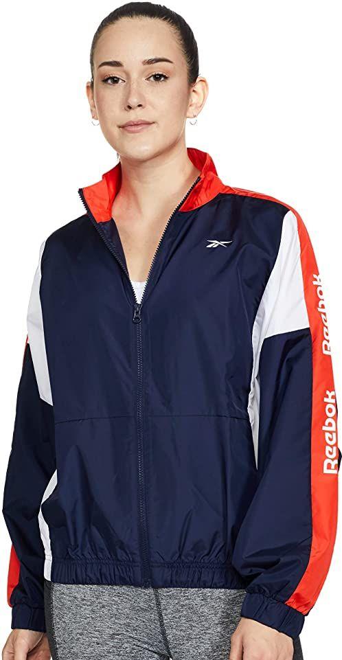 Reebok TE Linear Logo Jacket bluza, damska, stary granatowy, 2XL