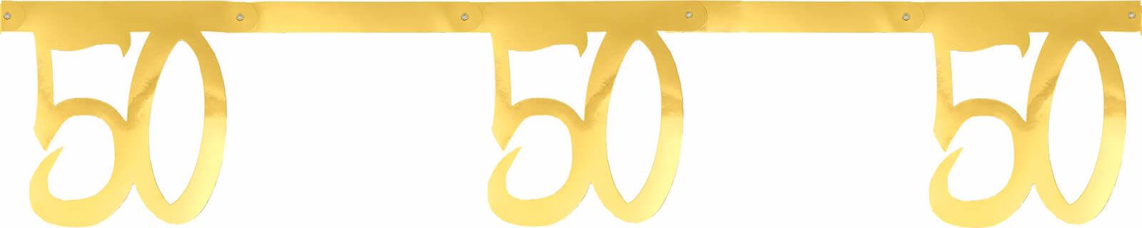 Girlanda na pięćdziesiąte urodziny złota - 250 cm - 1 szt.