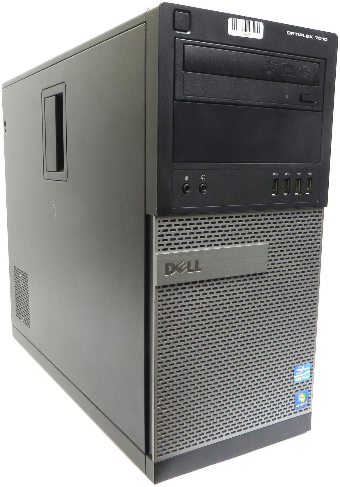 Komputer Dell OptiPlex 7010 MidiTower i5-3570 4x3.80GHz 8GB 240GB SSD DVD Windows 7 Professional