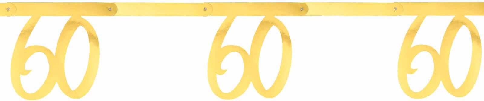 Girlanda na sześćdziesiąte urodziny złota - 250 cm - 1 szt.