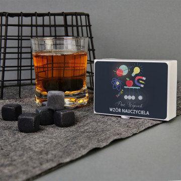 Wzór nauczyciela- Kamienie do whisky z nadrukiem