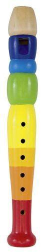 Drewniany flet dla dzieci Tęcza 61921-Goki, zabawki muzyczne