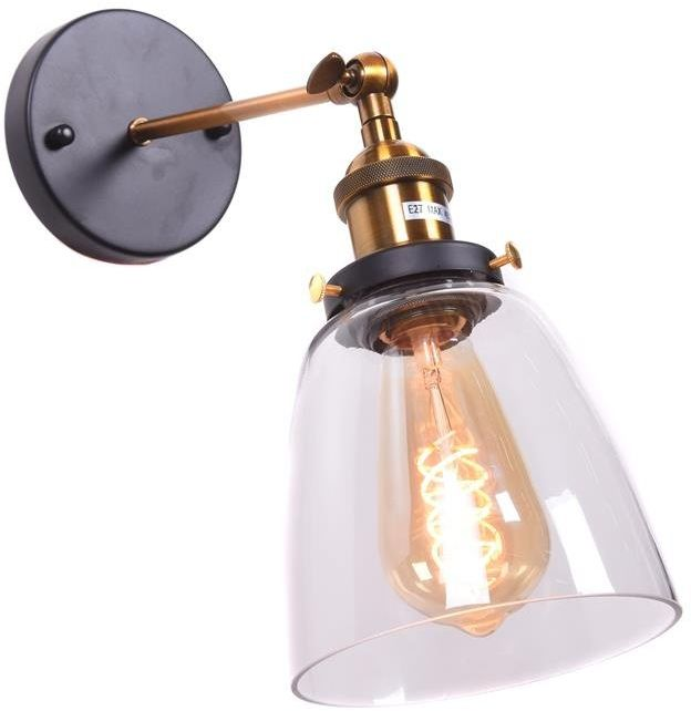 Lumina Deco Fabi loftowa lampa ścienna kinkiet