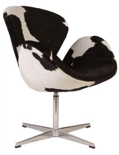 Fotel ŁABĘDŹ - inspirowany proj. Swan Chair - pony łaty