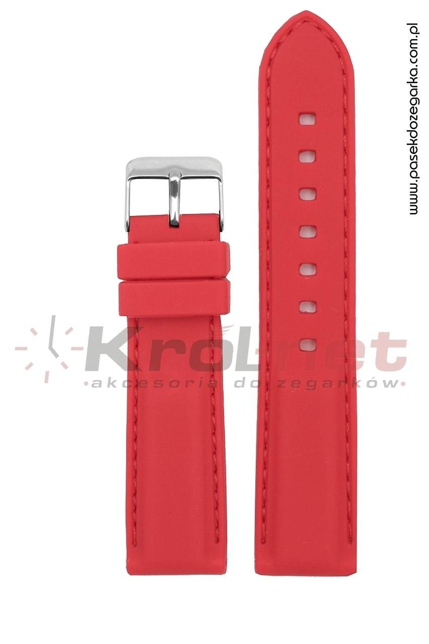 Pasek RP051C/24 - czerwony, silikonowy