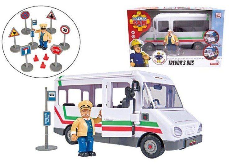 Strażak Sam Autobus Trevora z figurką