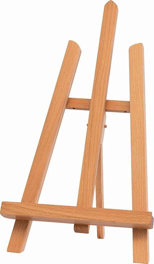 Kreul 17505  Solo Goya mała trójnożna sztaluga stołowa z litego drewna bukowego, zmontowana, do wysokości obrazu do 30 cm, wysokość całkowita ok. 40 cm
