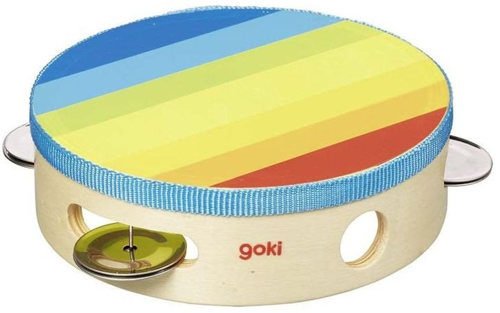 Tamburyn Tęcza, instrumenty dla dzieci, 61920-Goki, zabawki muzyczne dla dzieci