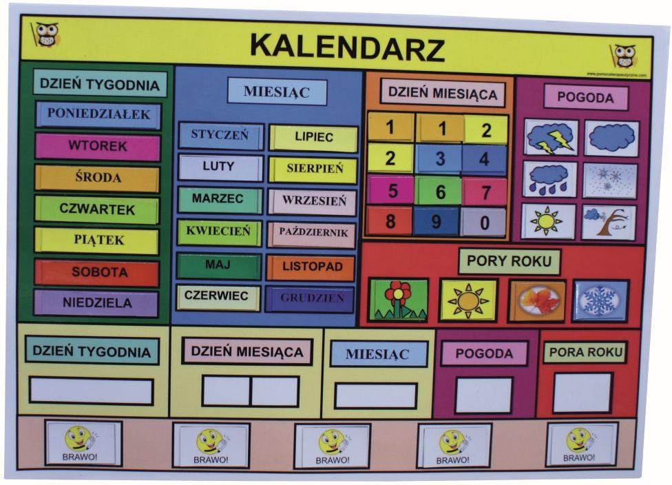 Magnetyczny Kalendarz Edukacyjny