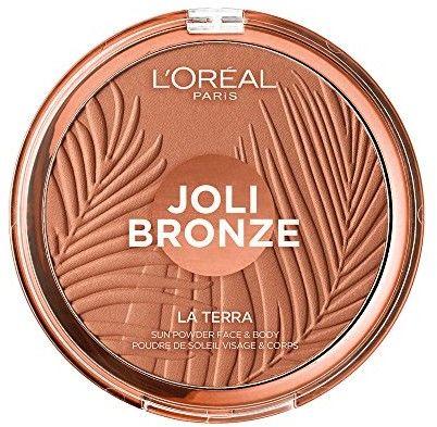 LOréal Paris Wake Up & Glow La Terra Bronze Please! bronzer i puder do konturowania odcień 01 Portofino Leger 18 g