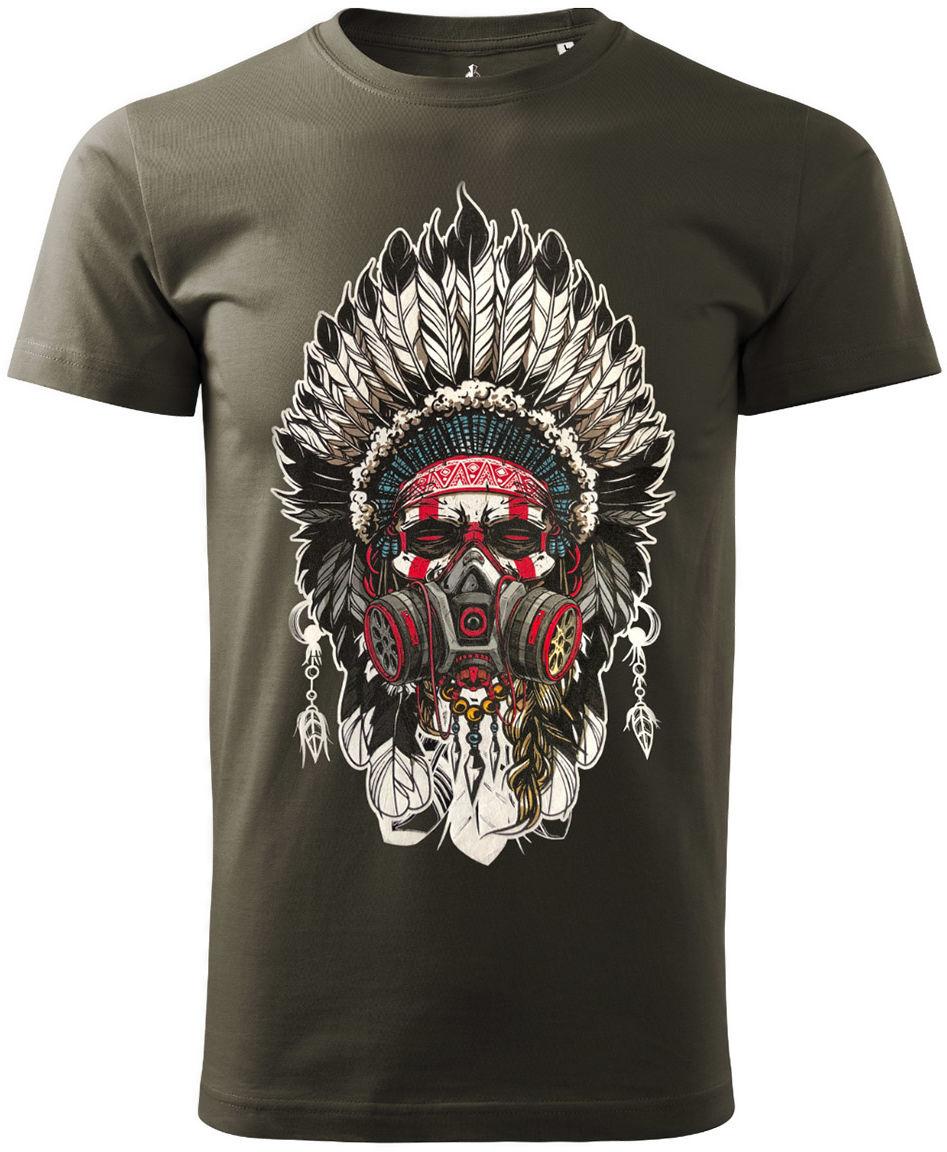 Koszulka T-Shirt Voyovnik Indian Chief - khaki (V-2102-17-67)