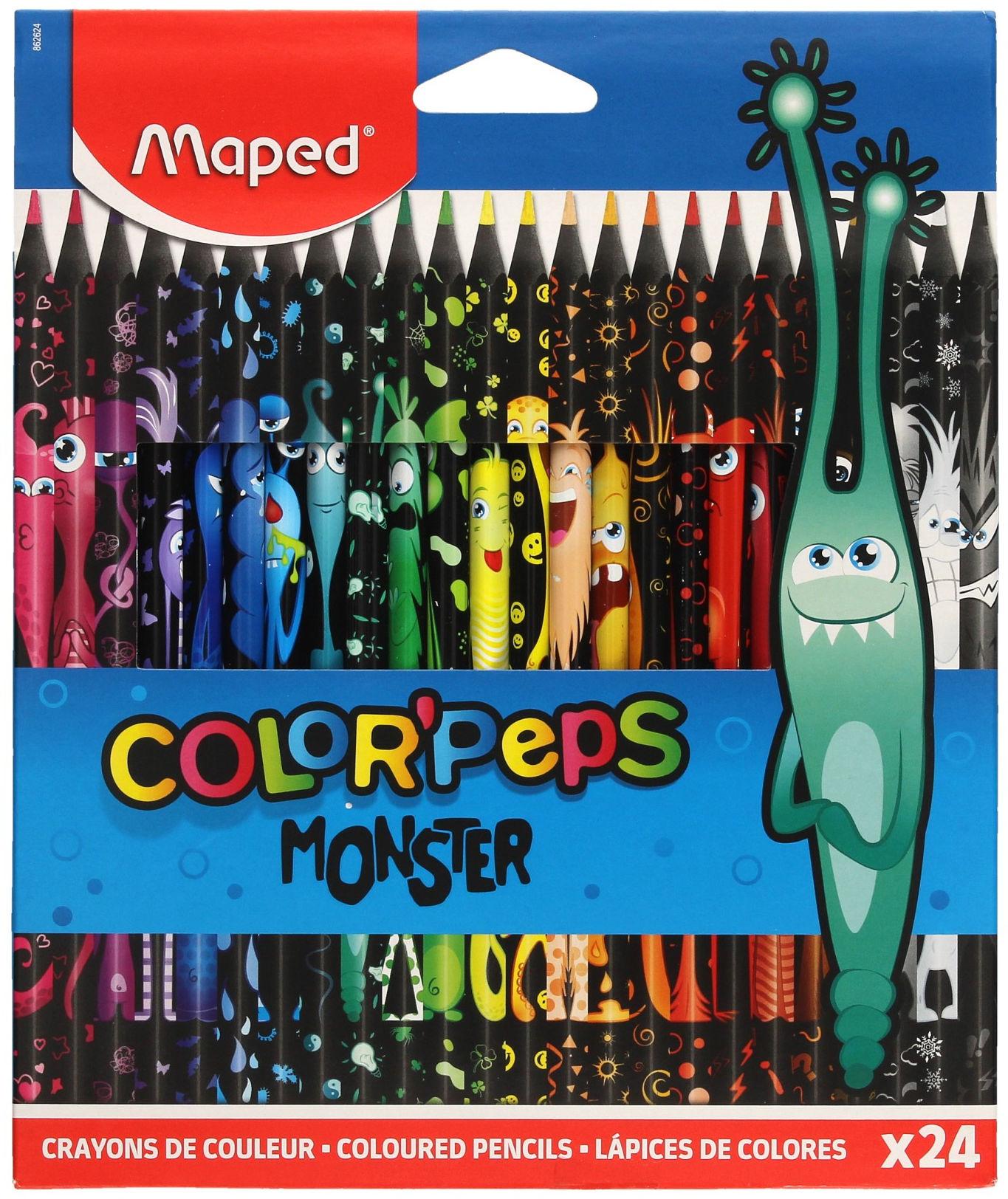 Kredki ołówkowe 24kol Monster Colorpeps Maped 862624